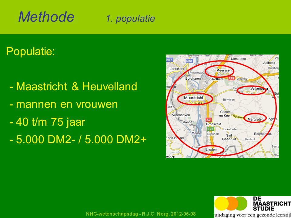 Kapellerput NHG-wetenschapsdag - R.J.C. Norg, 2012-06-08 Populatie: - Maastricht & Heuvelland - mannen en vrouwen - 40 t/m 75 jaar - 5.000 DM2- / 5.00