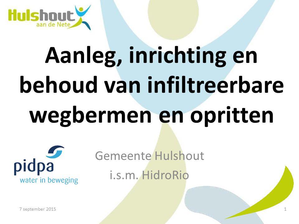 Aanleg, inrichting en behoud van infiltreerbare wegbermen en opritten Gemeente Hulshout i.s.m.