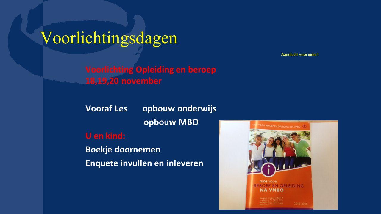 Enqueteformulier Met boekje georiënteerd Max.12 opleidingen uitzoeken.