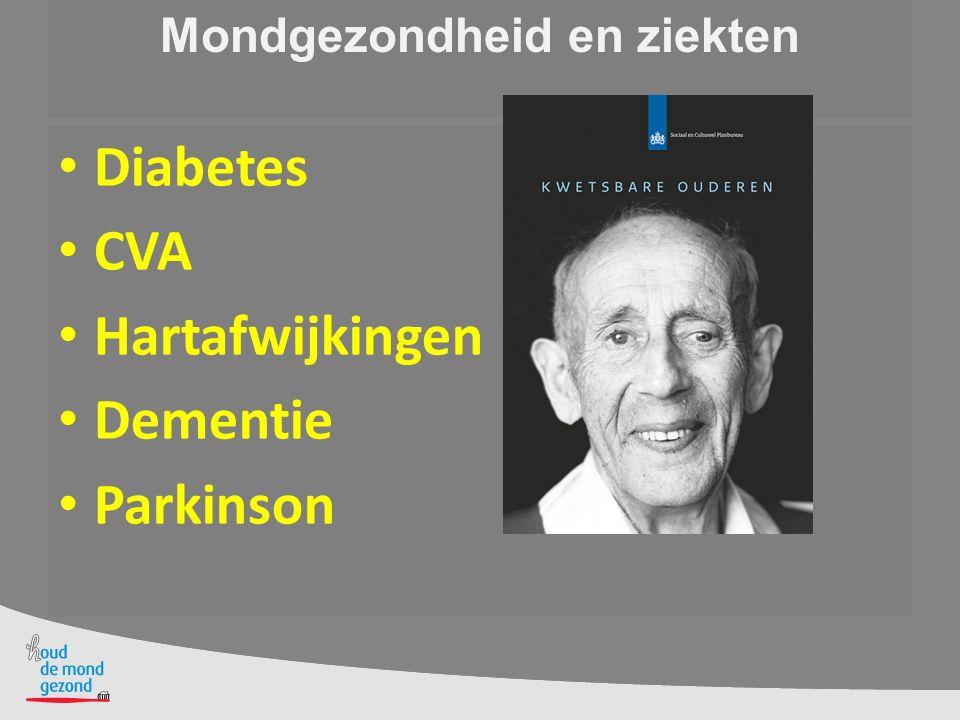 Mondverzorging bij Parkinson Vaseline op de lippen Observeer wat de bewoner zelf kan Begeleid en adviseer bij het poetsen.