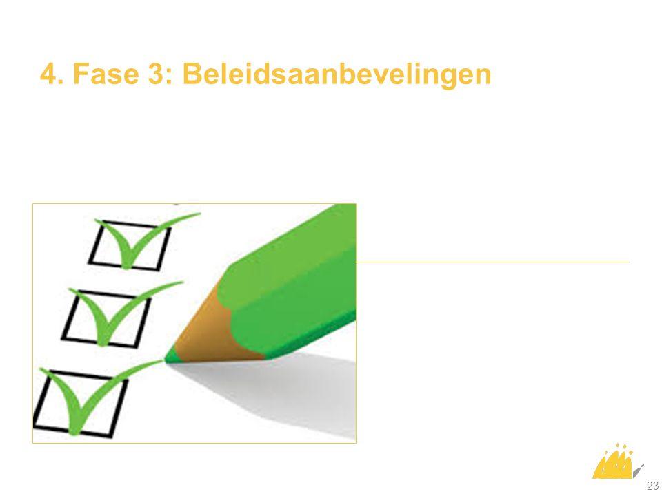 4. Fase 3: Beleidsaanbevelingen 23