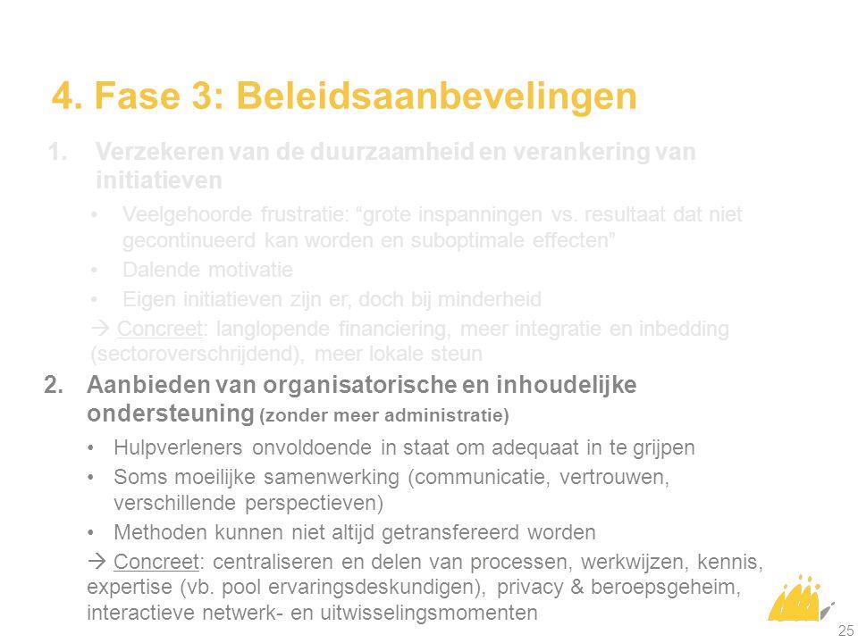 4.Fase 3: Beleidsaanbevelingen 1.