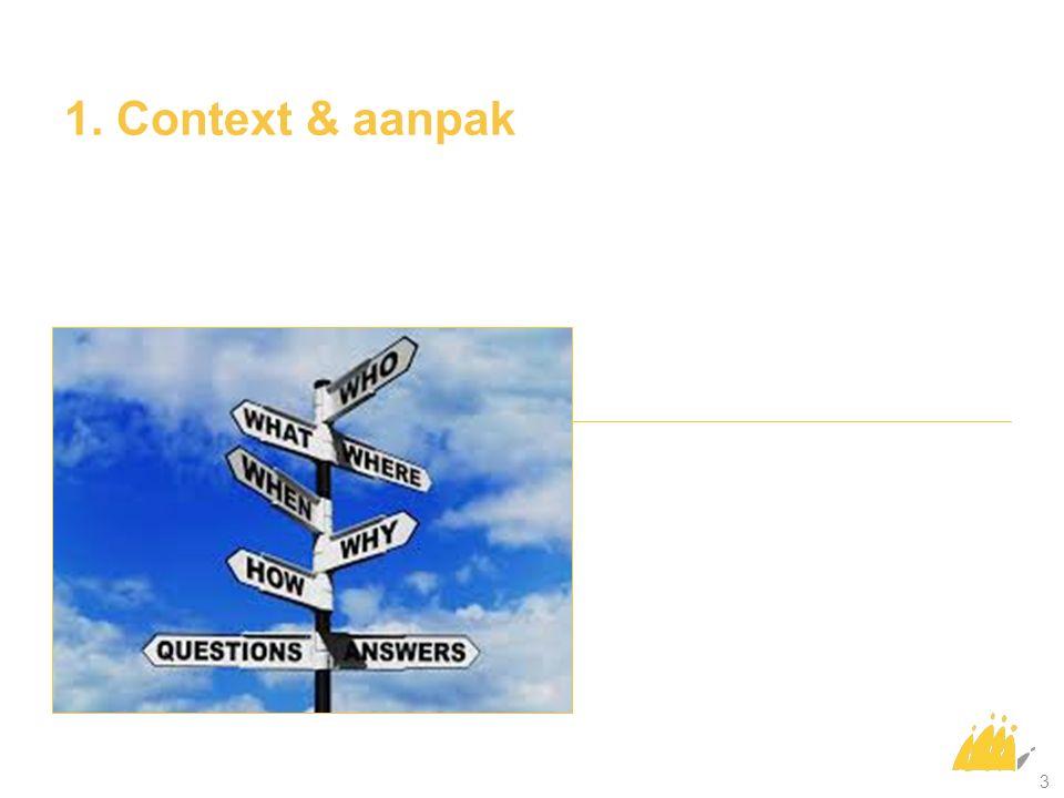 1. Context & aanpak 3