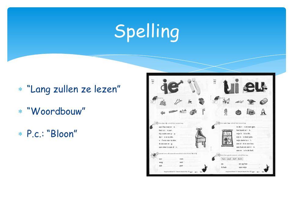 """ """"Lang zullen ze lezen""""  """"Woordbouw""""  P.c.: """"Bloon"""" Spelling"""