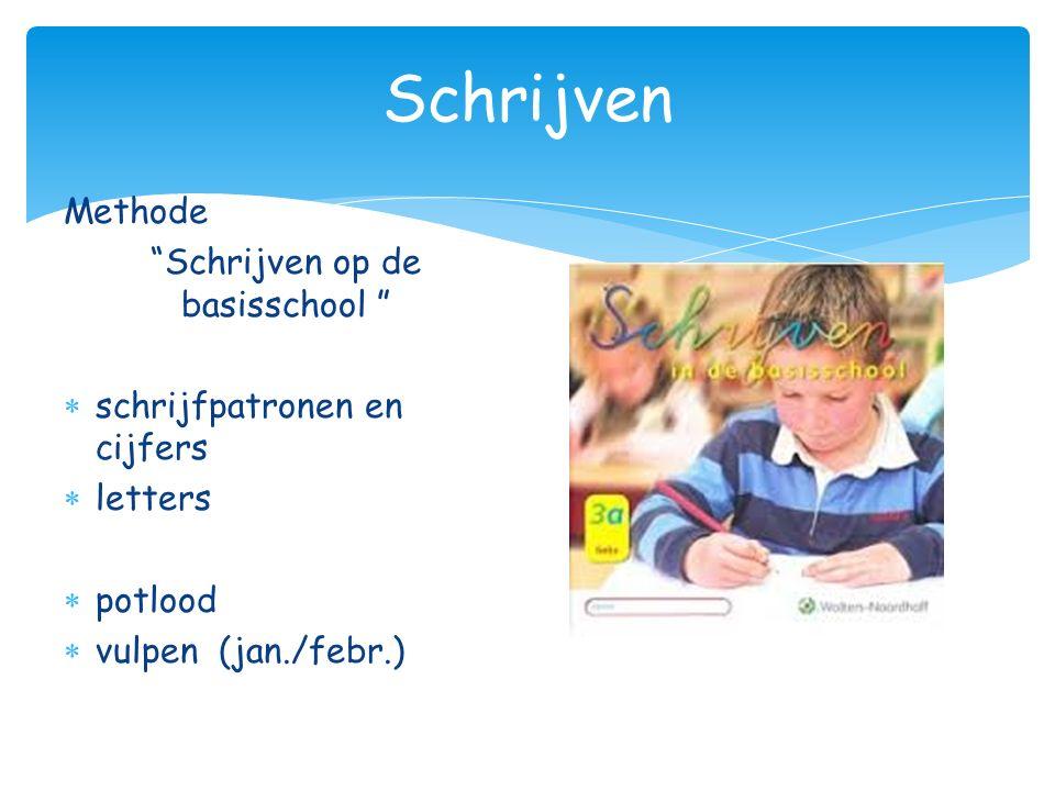 """Schrijven Methode """"Schrijven op de basisschool """"  schrijfpatronen en cijfers  letters  potlood  vulpen (jan./febr.)"""
