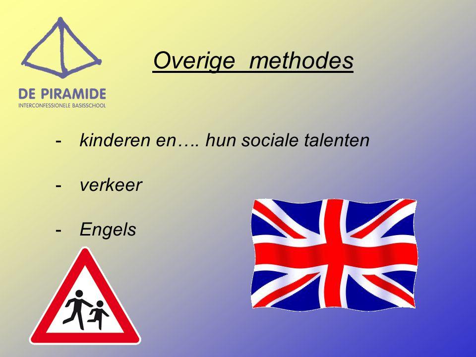 Overige methodes -kinderen en…. hun sociale talenten -verkeer -Engels