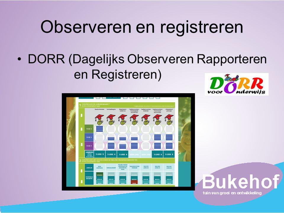 Observeren en registreren DORR (Dagelijks Observeren Rapporteren en Registreren)