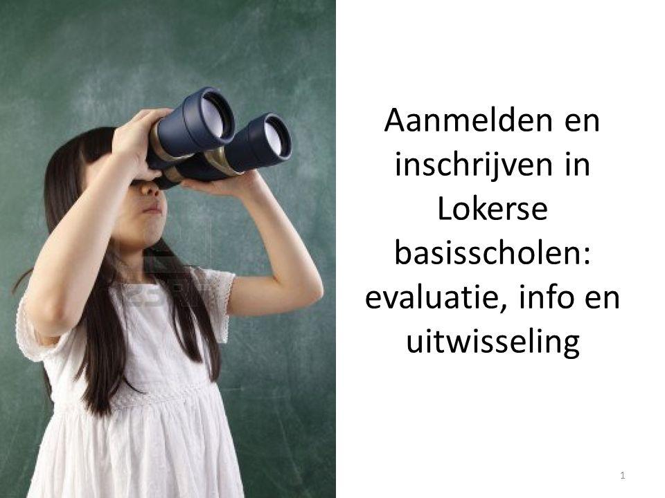 Aanmelden en inschrijven in Lokerse basisscholen: evaluatie, info en uitwisseling 1