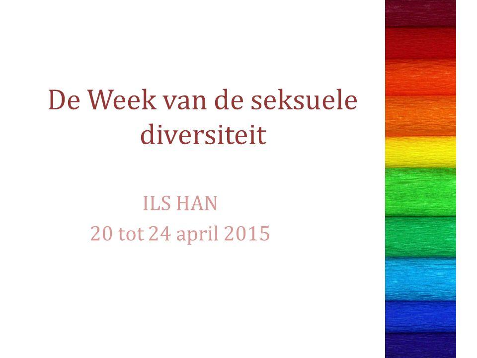 De Week van de seksuele diversiteit ILS HAN 20 tot 24 april 2015