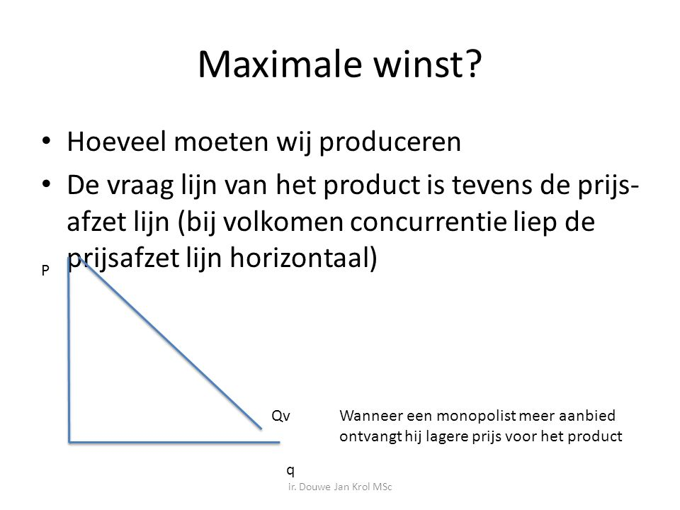 Maximale winst.