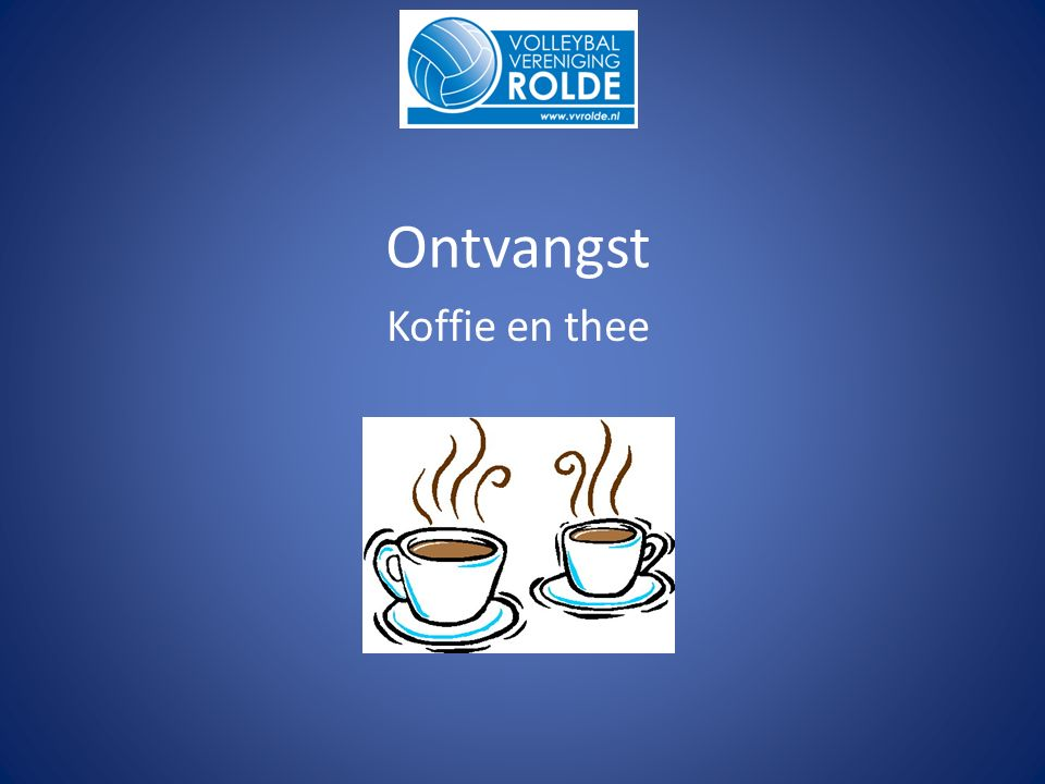 Ontvangst Koffie en thee