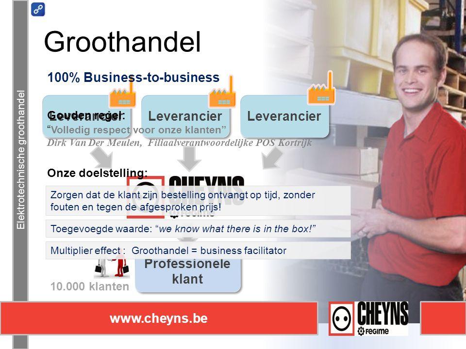Elektrotechnische groothandel www.cheyns.be Communicatie Elektrotechnische groothandel www.cheyns.be Blijf op de hoogte van alle ontwikkelingen op de markt