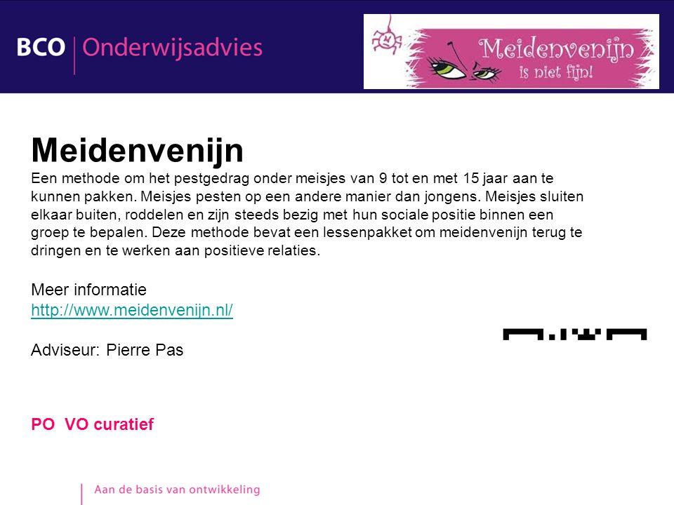 PO VO curatief Meidenvenijn Een methode om het pestgedrag onder meisjes van 9 tot en met 15 jaar aan te kunnen pakken. Meisjes pesten op een andere ma