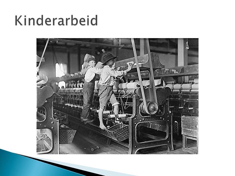  Grote toename kinderarbeid door: ◦ Kinderen kunnen overal bij, kleine vingers ◦ Goedkopere arbeidskrachten ◦ Gezinnen hebben geld hard nodig  Weerstand groeit na 1850  Samuel van Houten: liberale politicus  Kinderwetje van van Houten (1874) ◦ Kinderen tot 12 jaar mochten niet werken, BEHALVE in het huishouden en op het land  http://www.youtube.com/watch?v=4HPKIvNy hAA http://www.youtube.com/watch?v=4HPKIvNy hAA