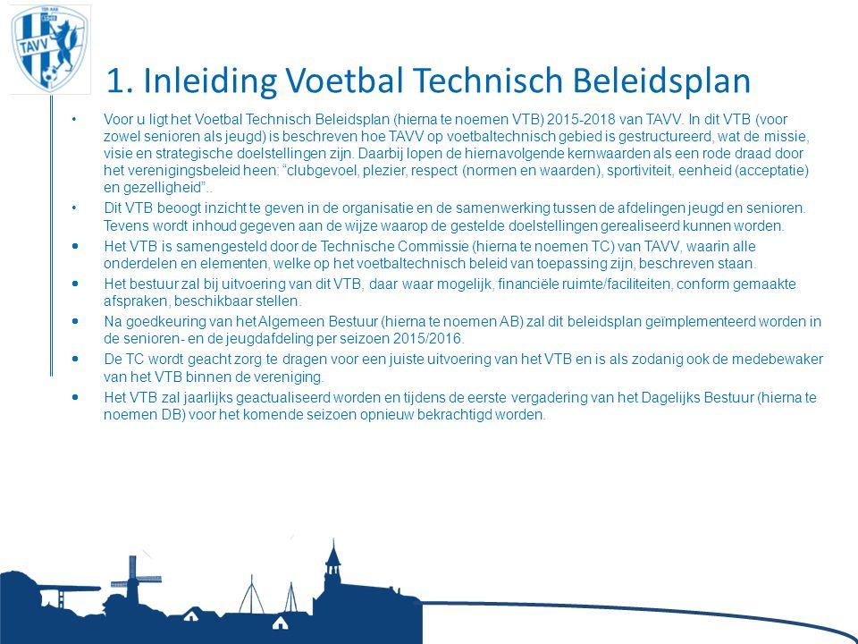 1. Inleiding Voetbal Technisch Beleidsplan Voor u ligt het Voetbal Technisch Beleidsplan (hierna te noemen VTB) 2015-2018 van TAVV. In dit VTB (voor z