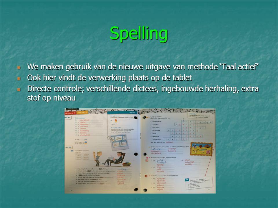 Spelling We maken gebruik van de nieuwe uitgave van methode 'Taal actief' We maken gebruik van de nieuwe uitgave van methode 'Taal actief' Ook hier vi
