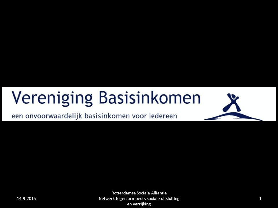 14-9-20151 Rotterdamse Sociale Alliantie Netwerk tegen armoede, sociale uitsluiting en verrijking