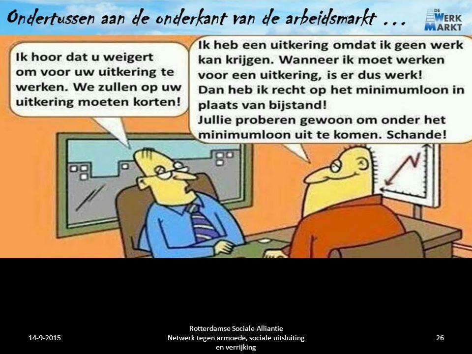 14-9-2015 Rotterdamse Sociale Alliantie Netwerk tegen armoede, sociale uitsluiting en verrijking 26