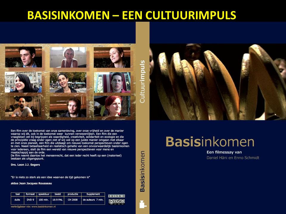 14-9-2015 Rotterdamse Sociale Alliantie Netwerk tegen armoede, sociale uitsluiting en verrijking 34 BASISINKOMEN – EEN CULTUURIMPULS