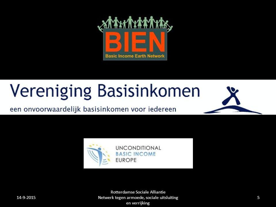 14-9-2015 Rotterdamse Sociale Alliantie Netwerk tegen armoede, sociale uitsluiting en verrijking 5