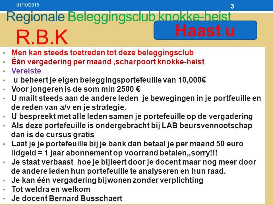 01/10/201534 Welke fondsen zijn nu koopwaardig!.