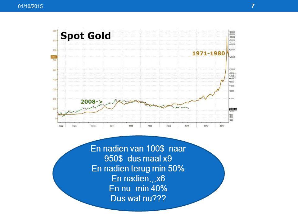 01/10/2015 7 En nadien van 100$ naar 950$ dus maal x9 En nadien terug min 50% En nadien,,,x6 En nu min 40% Dus wat nu???
