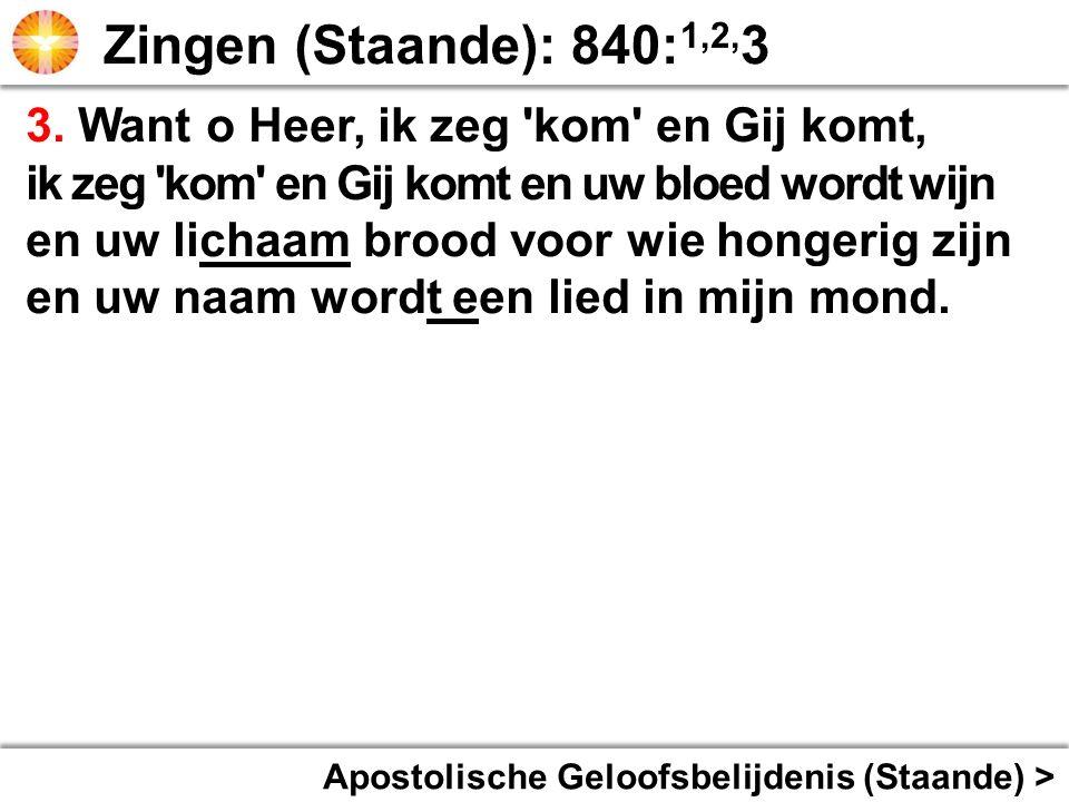 Apostolische Geloofsbelijdenis (Staande) > 3.