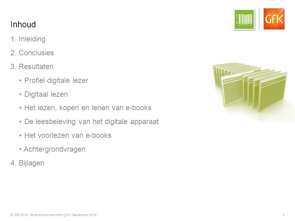 © GfK 2014 | Boekenbranche meting 30 | September 2014 2 1.