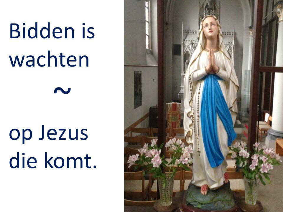 Bidden is wachten ~ op Jezus die komt.