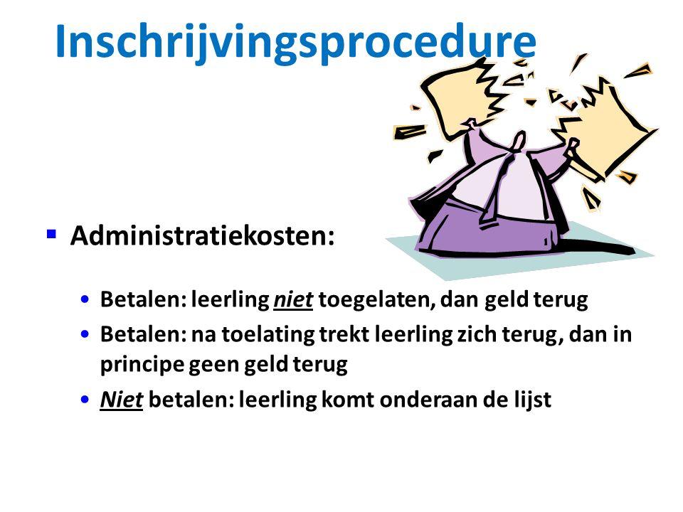 Inschrijvingsprocedure aanmelden: Digitaal Doorstroom Dossier aanmaken via website vervolgopleiding aanbevolen wordt aan te melden voor 1 april! Voor