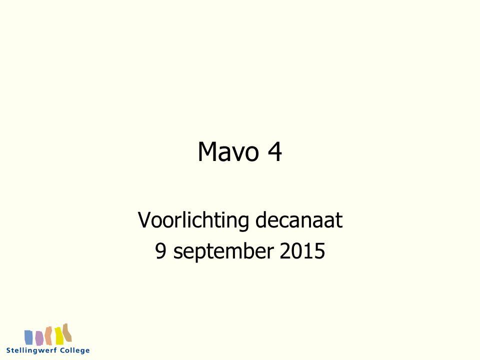 1 oktober 2015 12 Doorstroming naar niveau 3/4 van het MBO Techniek Economie Zorg en welzijn Landbouw Economie du / fa / wi Biologie gs / ak / wi / ml2 Wiskunde nask1 / bio Wiskunde en Nask 1