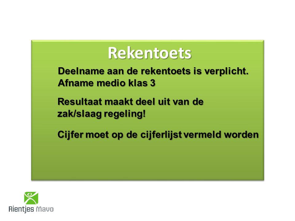 Verzwaarde examennorm Gemiddeld examencijfer MAVO moet 5,5 of hoger zijn (alleen voor Centraal Examen) Moeilijkheidsgraad CSE Nederlands wordt verzwaard (2F niveau) Rekentoets onderdeel van de uitslagregeling vanaf 2015-2016.
