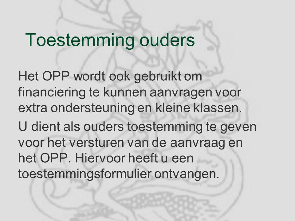 BELANGRIJK §U ontvangt het OPP per post in tweevoud, graag voor 1 november een getekend exemplaar retour.