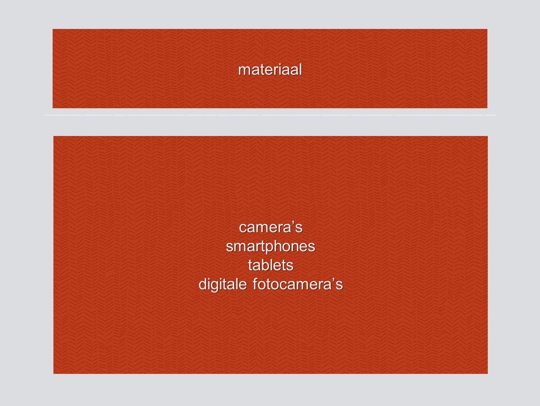 materiaal camera'ssmartphonestablets digitale fotocamera's
