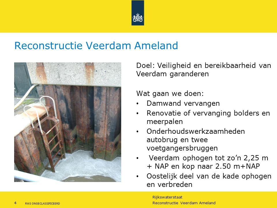 Rijkswaterstaat 4Reconstructie Veerdam Ameland RWS ONGECLASSIFICEERD Reconstructie Veerdam Ameland Doel: Veiligheid en bereikbaarheid van Veerdam gara
