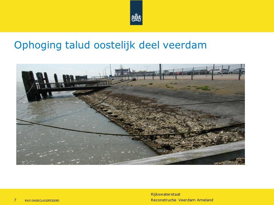 Rijkswaterstaat 7Reconstructie Veerdam Ameland RWS ONGECLASSIFICEERD Ophoging talud oostelijk deel veerdam