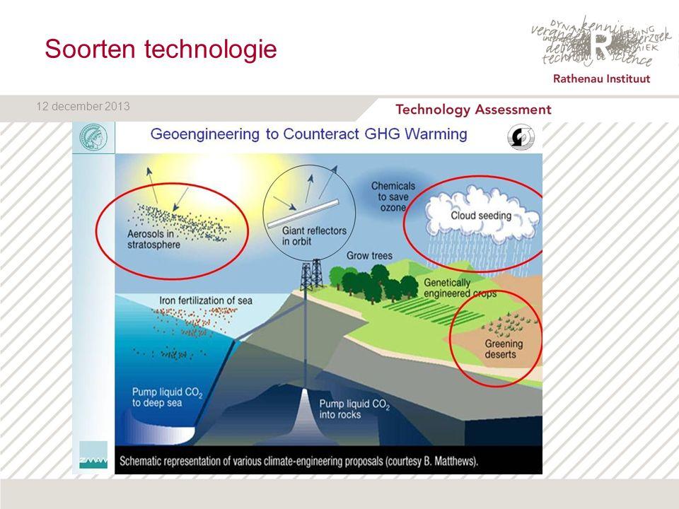 12 december 2013 Solar Radiation Management (SRM) Stratosferic Aerosol InjectionRuimtespiegels Bleken van wolken goedkoop, vulkaaneffectduur natuurlijk, werkt het.