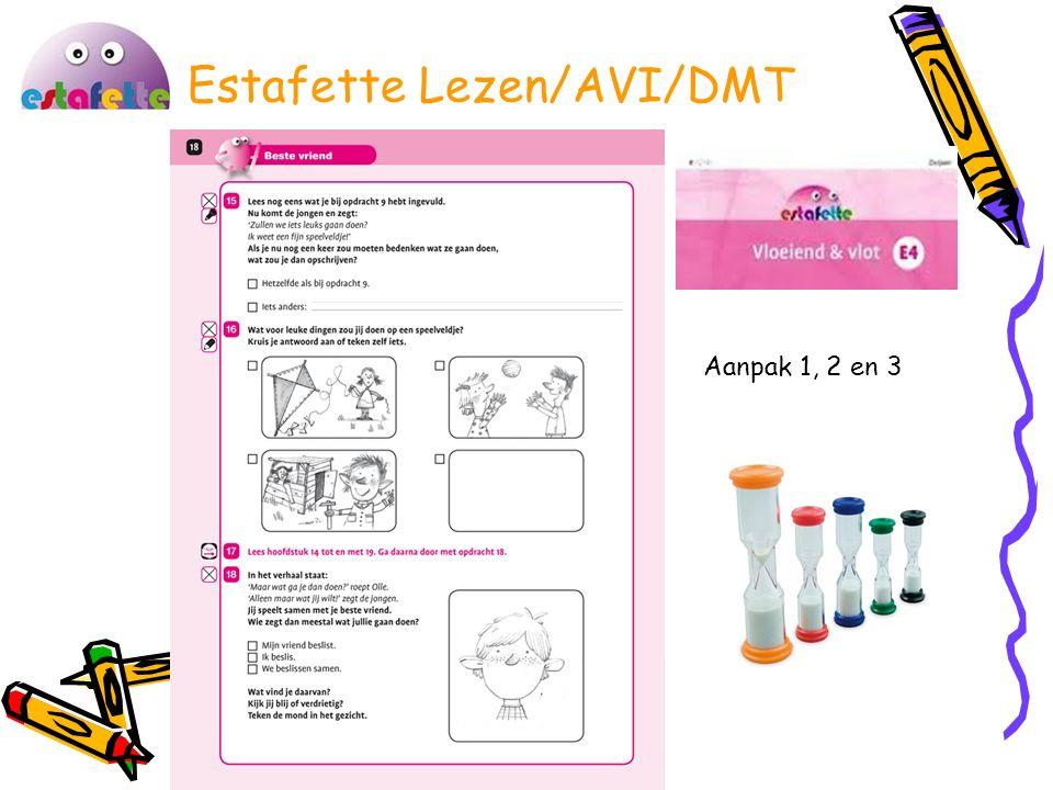 Estafette Lezen/AVI/DMT Aanpak 1, 2 en 3