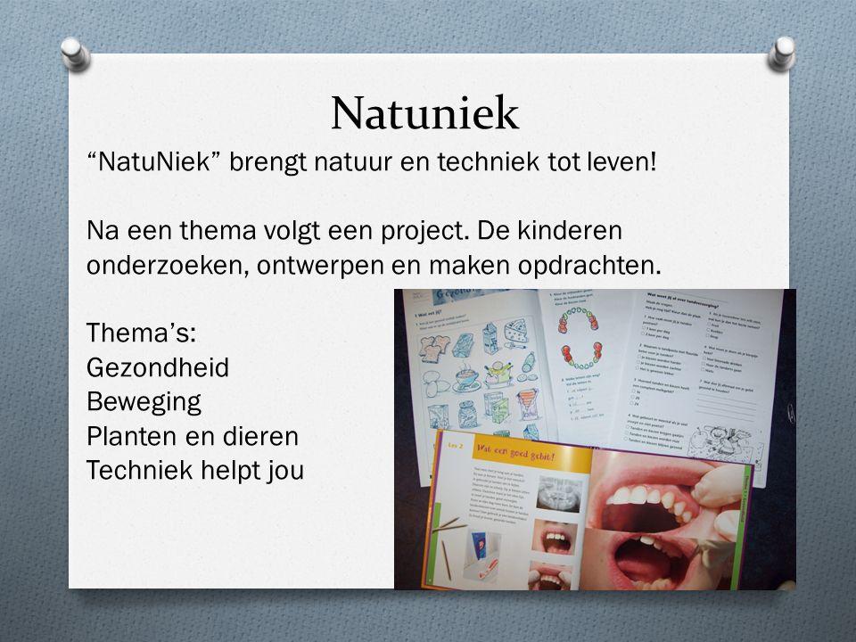 """Natuniek """"NatuNiek"""" brengt natuur en techniek tot leven! Na een thema volgt een project. De kinderen onderzoeken, ontwerpen en maken opdrachten. Thema"""