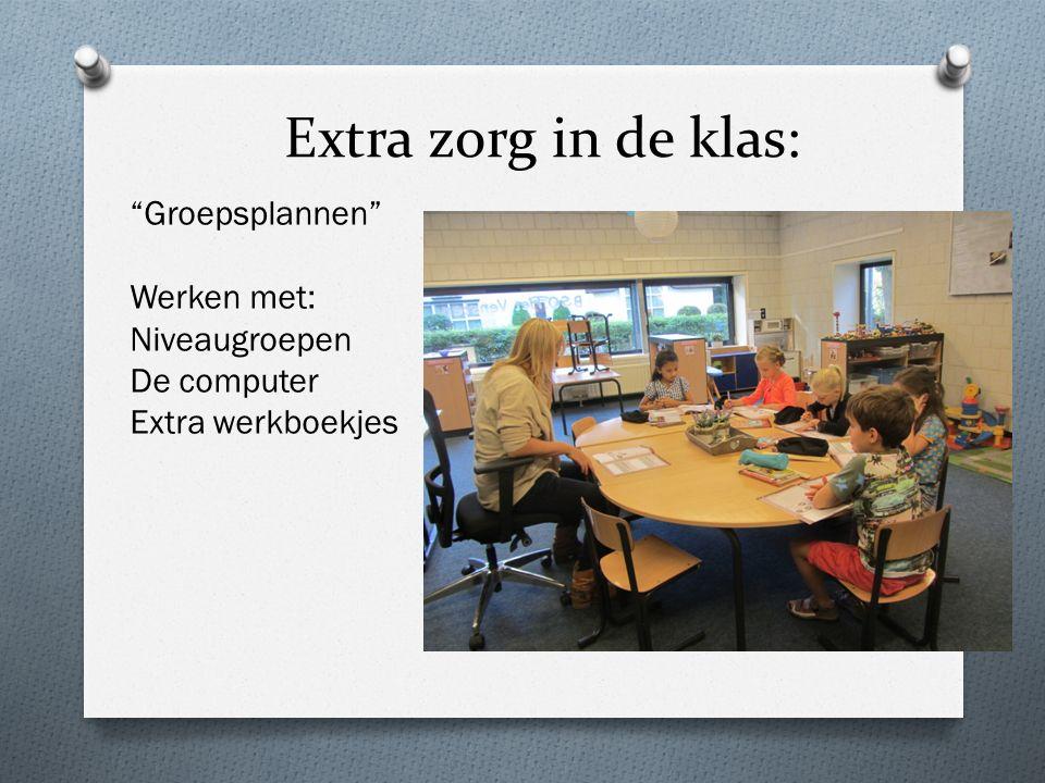 """Extra zorg in de klas: """"Groepsplannen"""" Werken met: Niveaugroepen De computer Extra werkboekjes"""