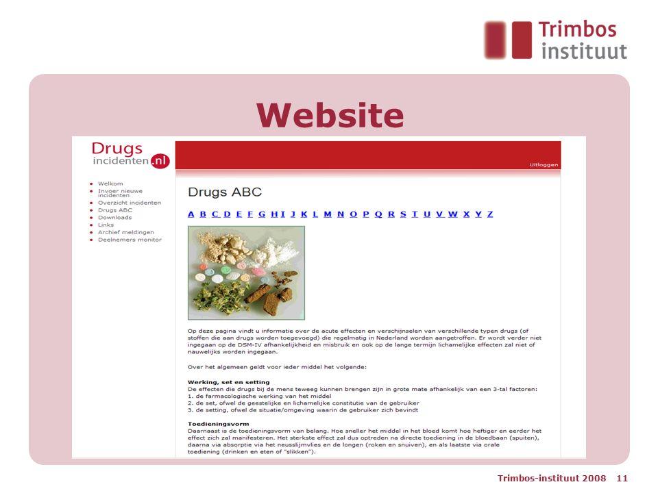 Website Trimbos-instituut 2008 11