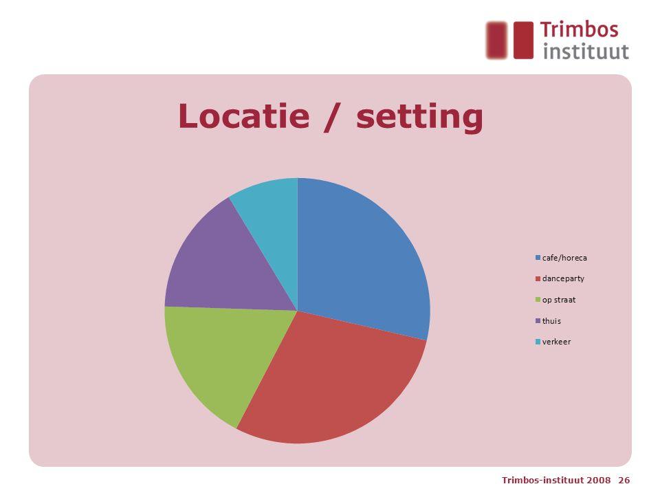 Locatie / setting Trimbos-instituut 2008 26