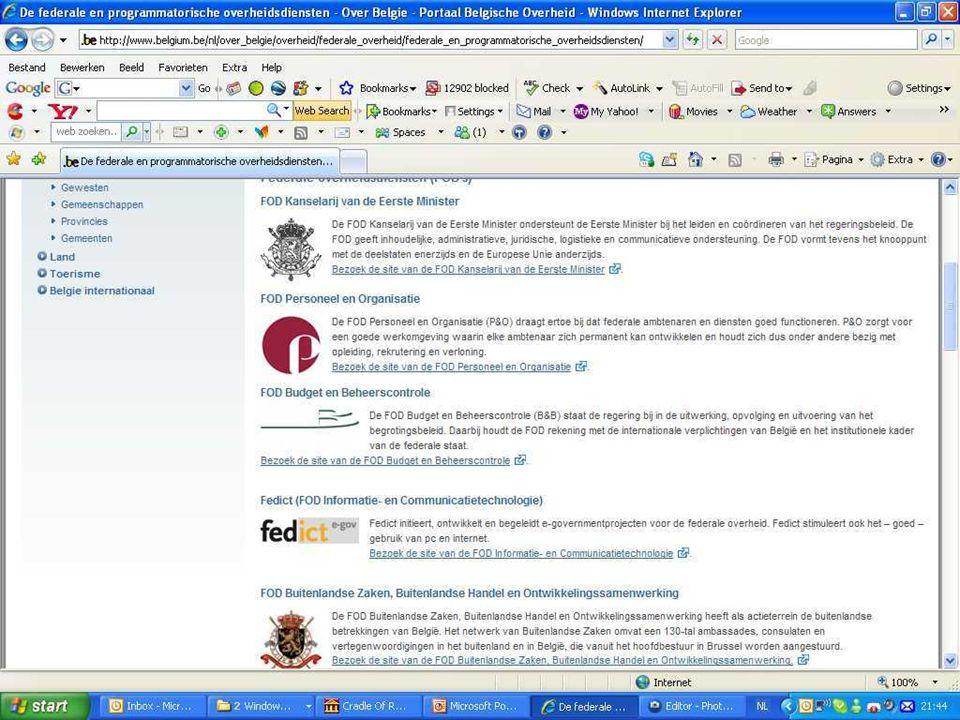 Deze presentatie mag noch geheel, noch gedeeltelijk worden gebruikt of gekopieerd zonder de schriftelijke toestemming van Seniornet Vlaanderen VZW maart 2009 EID en e-government 10