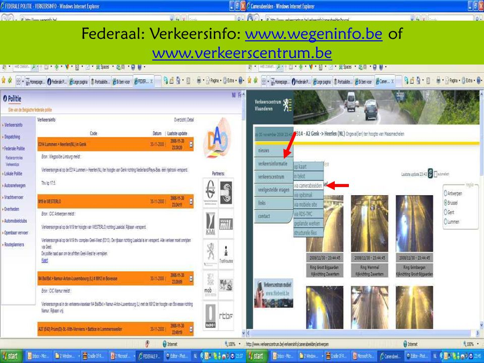 Deze presentatie mag noch geheel, noch gedeeltelijk worden gebruikt of gekopieerd zonder de schriftelijke toestemming van Seniornet Vlaanderen VZW maart 2009 EID en e-government 16 Federaal: Verkeersinfo: www.wegeninfo.be of www.verkeerscentrum.bewww.wegeninfo.be www.verkeerscentrum.be