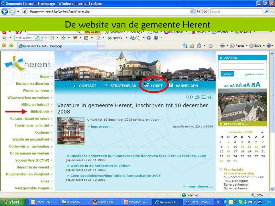 Deze presentatie mag noch geheel, noch gedeeltelijk worden gebruikt of gekopieerd zonder de schriftelijke toestemming van Seniornet Vlaanderen VZW maart 2009 EID en e-government 21 De website van de gemeente Herent