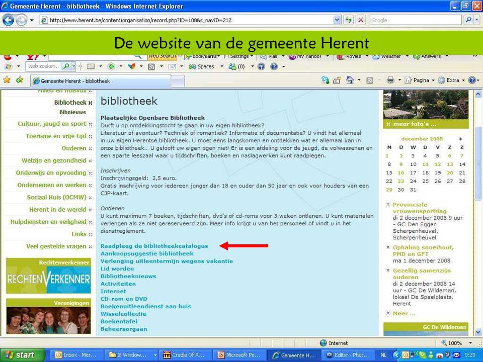 Deze presentatie mag noch geheel, noch gedeeltelijk worden gebruikt of gekopieerd zonder de schriftelijke toestemming van Seniornet Vlaanderen VZW maart 2009 EID en e-government 22 De website van de gemeente Herent