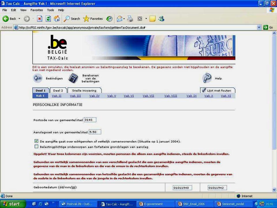 Deze presentatie mag noch geheel, noch gedeeltelijk worden gebruikt of gekopieerd zonder de schriftelijke toestemming van Seniornet Vlaanderen VZW maart 2009 EID en e-government 48