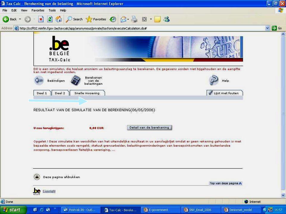 Deze presentatie mag noch geheel, noch gedeeltelijk worden gebruikt of gekopieerd zonder de schriftelijke toestemming van Seniornet Vlaanderen VZW maart 2009 EID en e-government 54