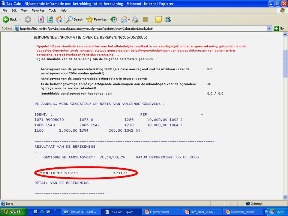 Deze presentatie mag noch geheel, noch gedeeltelijk worden gebruikt of gekopieerd zonder de schriftelijke toestemming van Seniornet Vlaanderen VZW maart 2009 EID en e-government 55