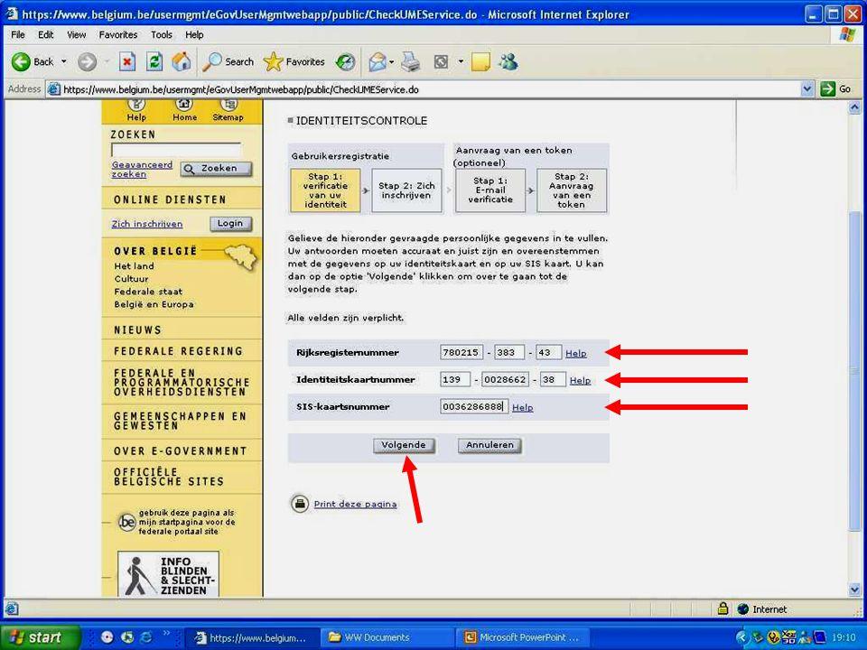 Deze presentatie mag noch geheel, noch gedeeltelijk worden gebruikt of gekopieerd zonder de schriftelijke toestemming van Seniornet Vlaanderen VZW maart 2009 EID en e-government 58
